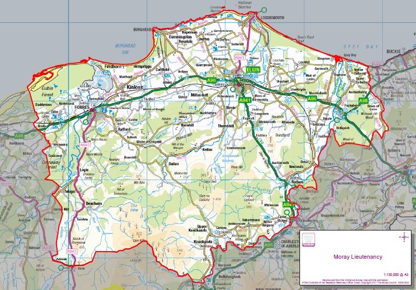 The Lieutenancy of Moray Area