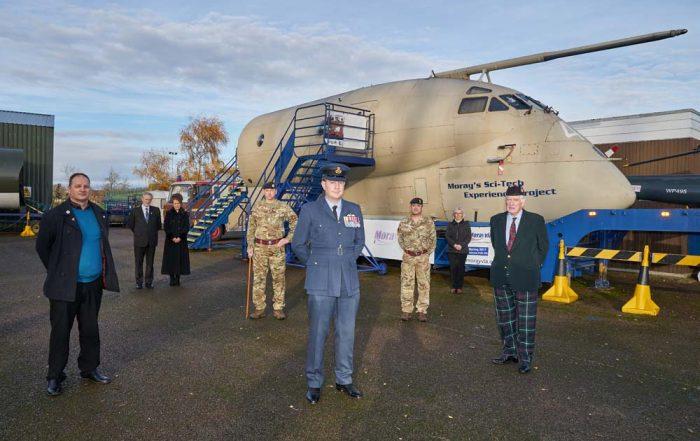 17 November 2020, 40th Anniversary of RAF Nimrod Crash, Kinloss. Morayvia Science and Technology Centre, Kinloss, Moray, Scotland, UK, IV36 3YA