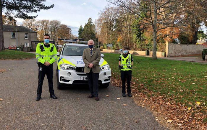 Lord Lieutenant visits Forres and Lossiemouth Polic