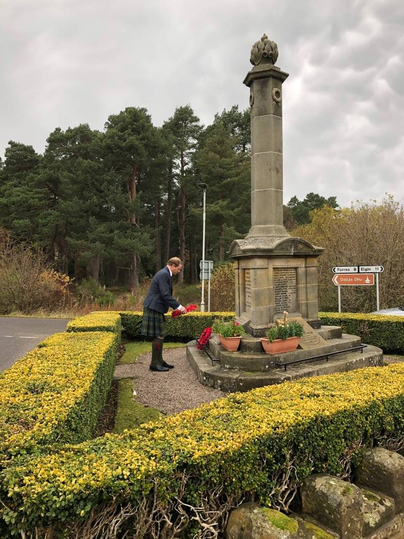 John Moray laying remembrance sunday wreath