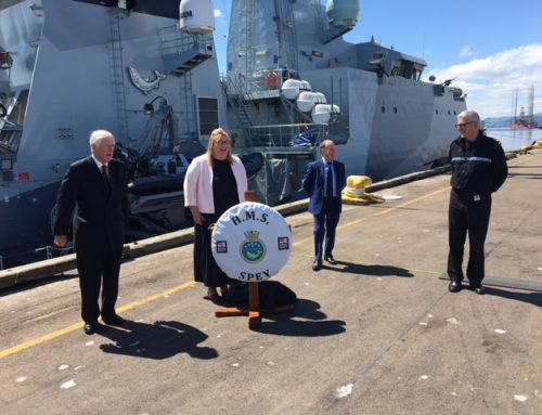 HMS Spey commissioned at Invergordon